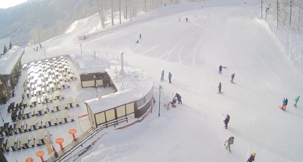 В Горки Город катаются на снегу