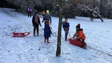 Снег в Сочи Мемориал Дети катаюся