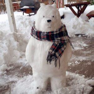 Креативный медведь - снеговик
