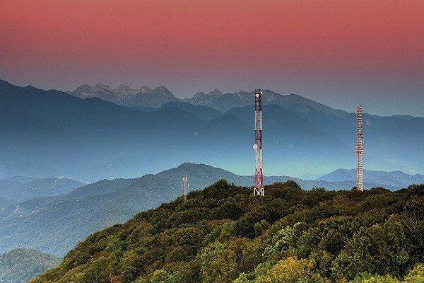 Вид с башни на горе Ахун
