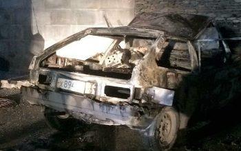 ДТП и пожар на объездной СОЧИ - машина полностью выгорела