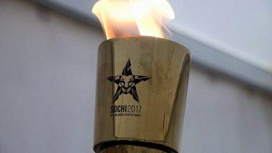 В Сочи доставили огонь III Всемирных военных игр на самолёте