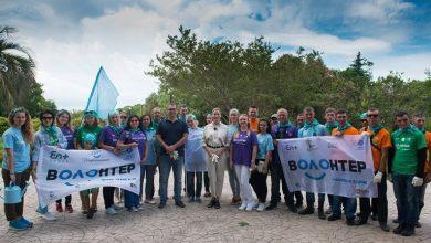 Волонтеры экомарафона En+ Group «360 минут» и Елена Летучая приняли участие в благоустройстве дендрологического парка «Южные культуры»