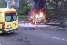 В Адлере сгорел автомобиль