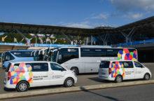 транспорт с атрибутикой фестиваля