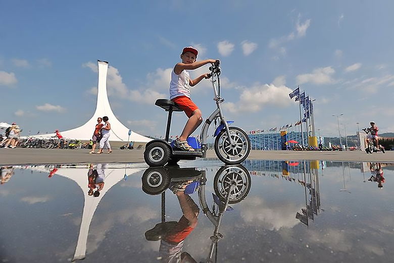 велосипед на прокат в Олимпийском парке