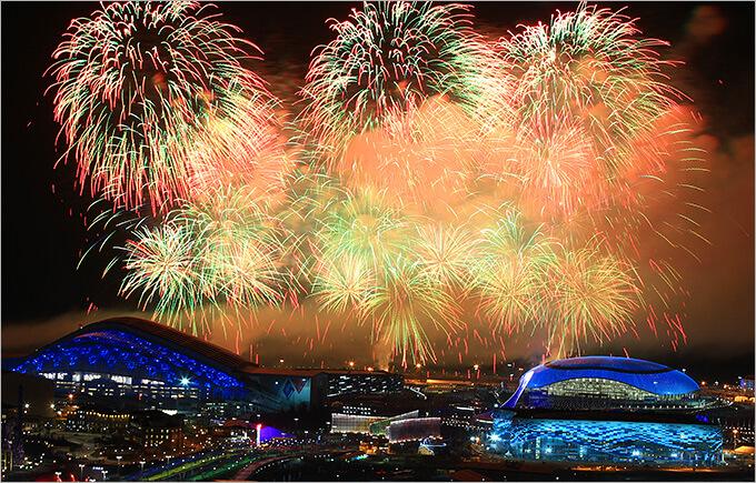 Салют на Новый год в Сочи