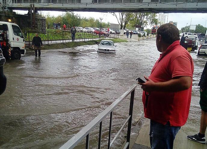 Дождь и потоп в Сочи 30 октября