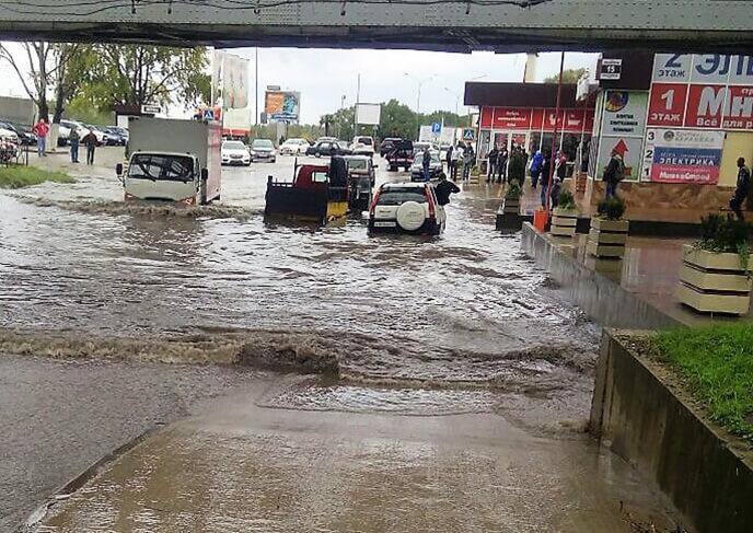 Дождь и потоп Адлер 30 октября