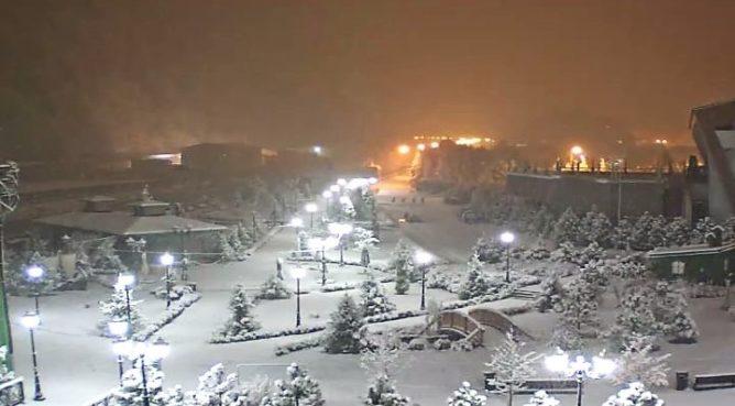Сегодня в Сочи снег