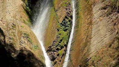 Ореховский водопад крупным планом