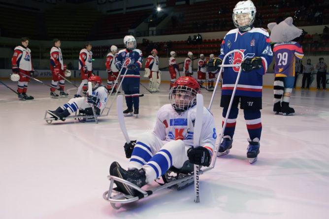Открытие детской следж-хоккейной команды