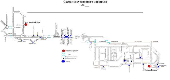 маршрут движения автобуса Матрешка на 8 марта