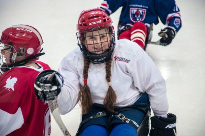 юные следж-хоккеисты