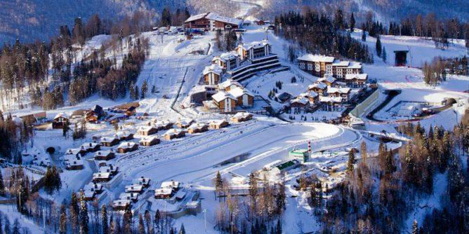 Курорт «Газпром» зимой