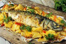 форель, осетров и янтарную рыбу